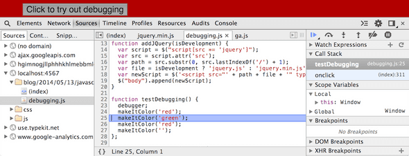 Screenshot of debugging. The body background is red.